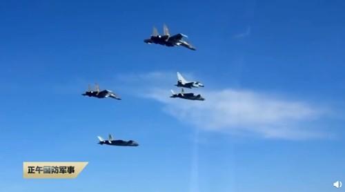 Đội hình tác chiến của nhóm tiêm kích J-20, J-16 và J-10C