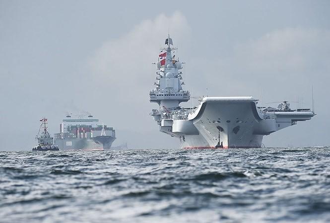   Tàu sân bay Sơn Đông sẽ tham gia cuộc tập trận quân sự cuối năm. Ảnh: SCMP