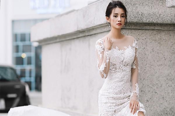 Vẻ đẹp mong manh của MC Quỳnh Chi khi hoá thành cô dâu