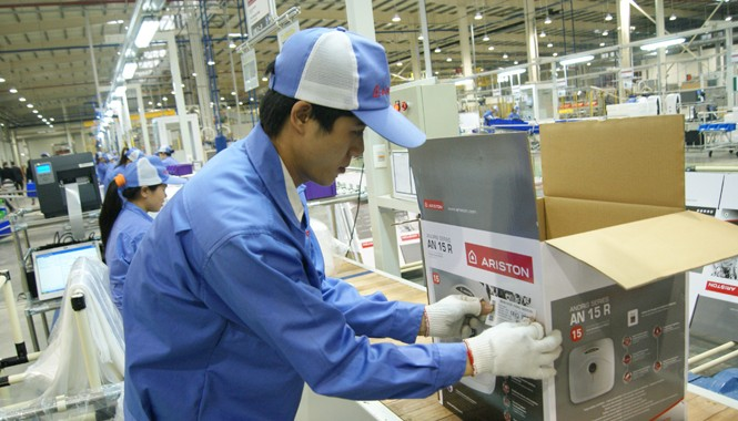 Nhà máy thứ 2 tại Việt Nam của Tập đoàn Ariston Thermo (Italia) vừa đưa vào hoạt động tại Bắc Ninh. Ảnh: L.H.V