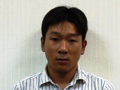 Đối tượng Lưu Minh Long tại cơ quan điều tra