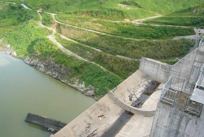 Đập Thuỷ điện Sông Tranh đảm bảo an toàn trước mùa bão lũ 2014. Ảnh: Phong Cầm