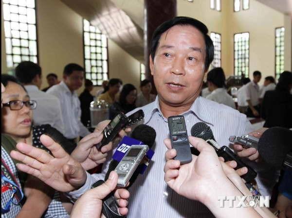 Chủ nhiệm Ủy ban Đối ngoại của Quốc hội Trần Văn Hằng trả lời phỏng vấn của báo chí. Ảnh: Phương Hoa/TTXVN