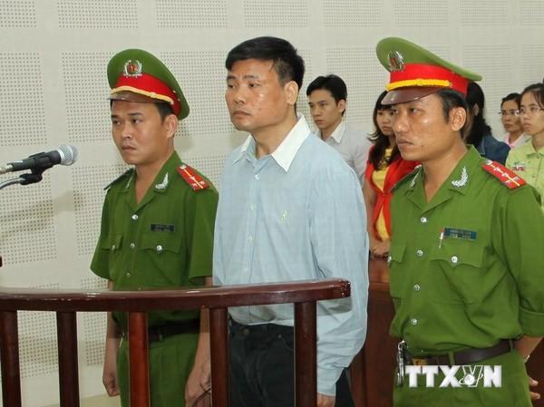 Bị cáo Trương Duy Nhất tại phiên tòa sơ thẩm. Ảnh: Văn Sơn/TTXVN