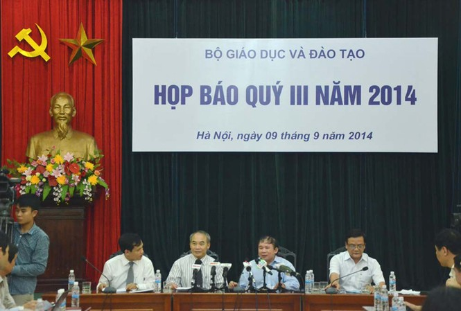 Bộ GD&ĐT họp báo chiều 9/9. Ảnh: Thanh Hà