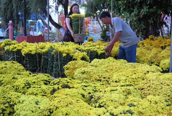 Hoa ở Cà Mau giảm giá chiều 30 Tết