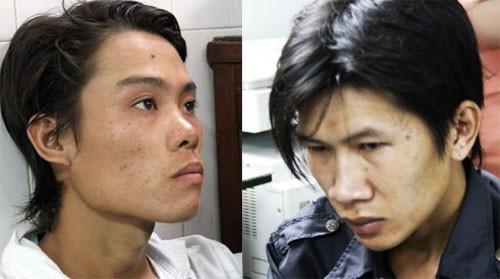 Hai tên cướp bị bắt giữ. Ảnh: VnExpress