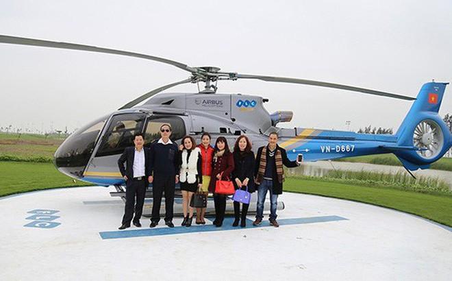 Một trong những chiếc trực thăng được gắn logo của FLC Group đã được bán cho đối tác