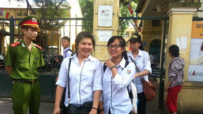 Thí sinh dự thi tốt nghiệp 2014 tại Hà Nội. Ảnh Đỗ Hợp