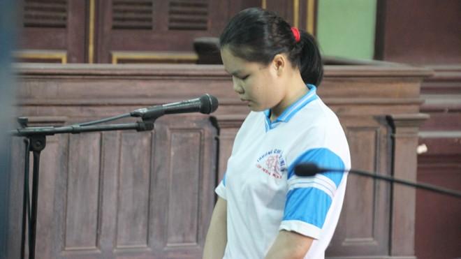 Bướm đêm' Nguyễn Thị Lượm tại phiên tòa sáng nay 9/9. Ảnh: Tân Châu