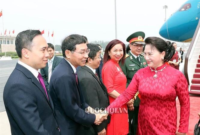 Chủ tịch Quốc hội Nguyễn Thị Kim Ngân và Đoàn đại biểu cấp cao Quốc hội Việt Nam đến Thủ đô Bắc Kinh, Trung Quốc