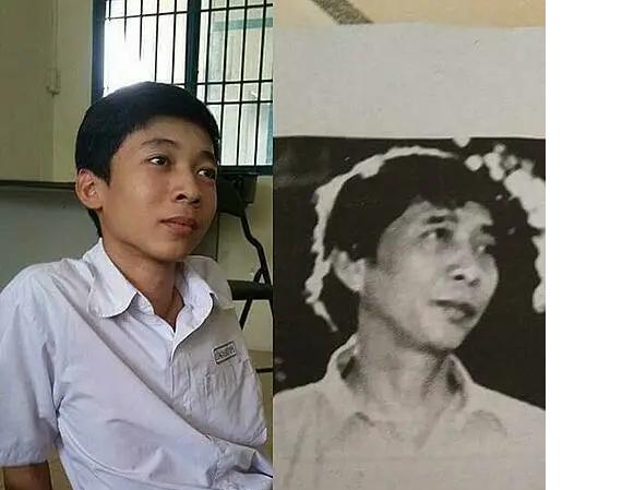Từ tỷ lệ khuôn mặt, đôi mắt cho đến cách tạo dáng đều có sự giống nhau khá lớn giữa nam sinh và nhà thơ Thanh Thảo.