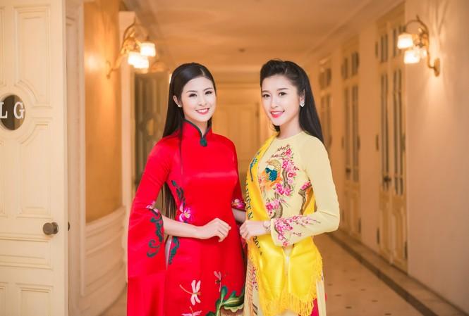 Hoa hậu Ngọc Hân và Á hậu Huyền My.