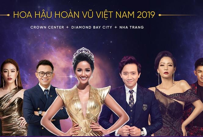 H'Hen Niê làm MC, hội ngộ Hoàng Thuỳ Linh ở bán kết Hoa hậu Hoàn vũ VN 2019.