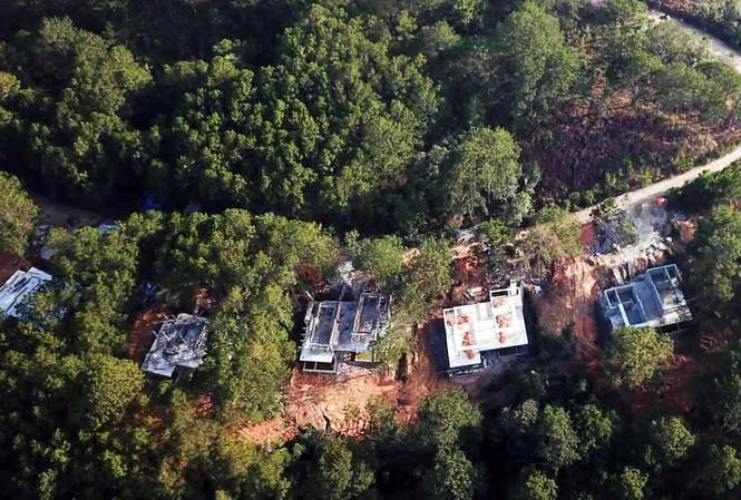 Khu vực có diện tích rừng phòng hộ bị xâm hại