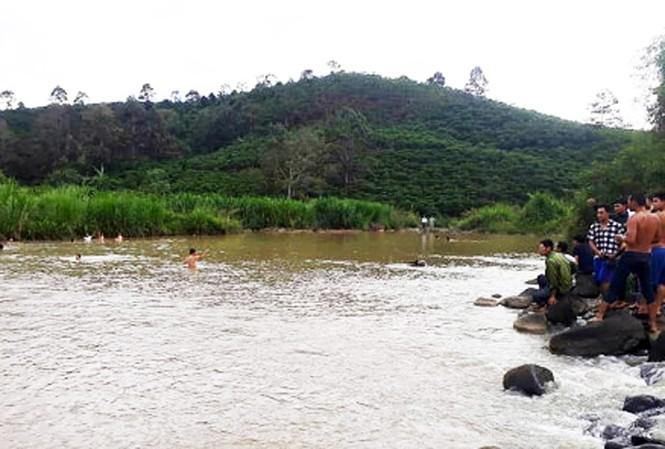 Hiện trường một vụ trẻ em bị đuối nước ở Lâm Đồng