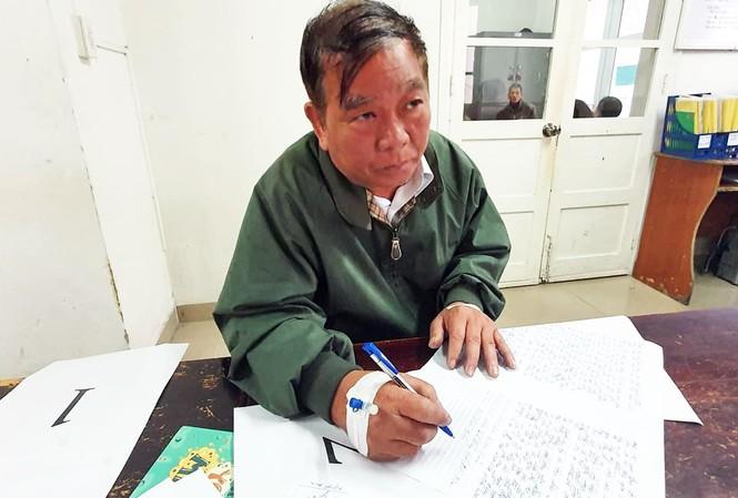 Trần Văn Hùng tại cơ quan điều tra.