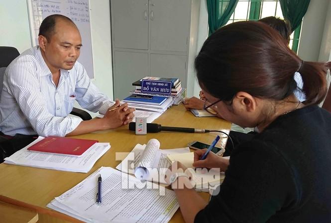 Ông Đỗ Văn Hưu trong lần làm việc với PV Tiền Phong vào tháng 4/2018