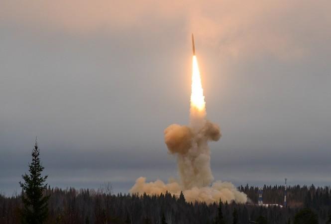 Một vụ thử tên lửa đạn đạo của Lực lượng Tên lửa chiến lược Liên bang Nga