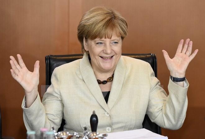 Thủ tướng Đức Angela Merkel tại một cuộc họp Nội các ở thủ đô Berlin. (Ảnh: AFP/TTXVN)