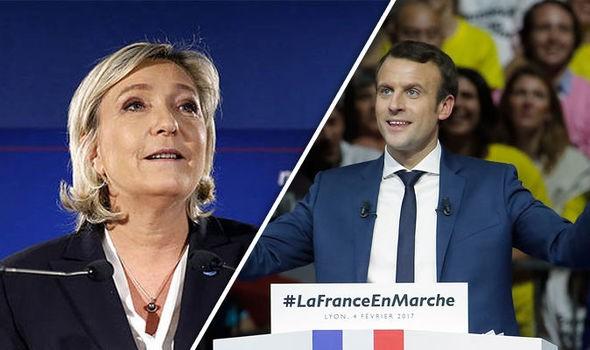 Ứng cử viên độc lập Emmanuel Macron (phải) và ứng cử viên cực hữu Marine Le Pen sẽ bước vào vòng hai cuộc bầu cử tổng thống Pháp dự kiến diễn ra ngày 7/5 tới. Ảnh; AFP