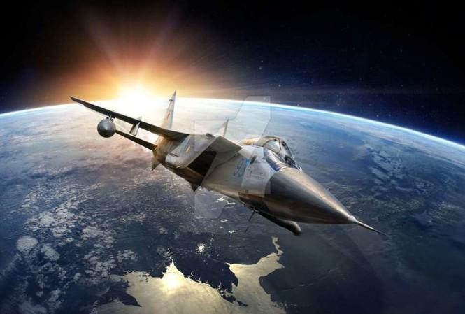 Tiêm kích đánh chặn MiG-31BM tác chiến tầng bình lưu. Ảnh: Defence