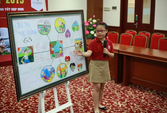 """Các dự án tham dự cuộc thi """"Tuổi nhỏ nghĩ lớn – Hành động vì một cuộc sống tốt đẹp hơn"""" chứa đựng nhiều thông điệp sâu sắc thông qua góc nhìn của các em học sinh."""