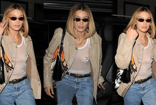 Hai chị em nhà Hadid đang ở Anh dự Tuần lễ thời trang London.