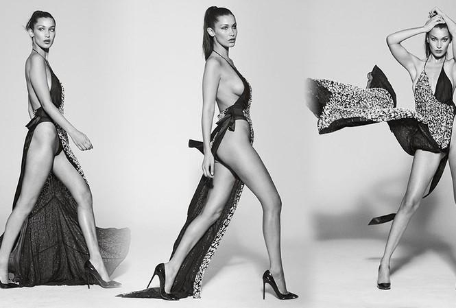 Bella Hadid phô thể hình đẹp 'từng cm' với váy cắt xẻ 'tứ bề'