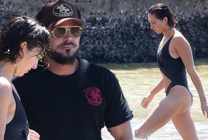 Zac Efron đưa bạn gái nóng bỏng đi biển