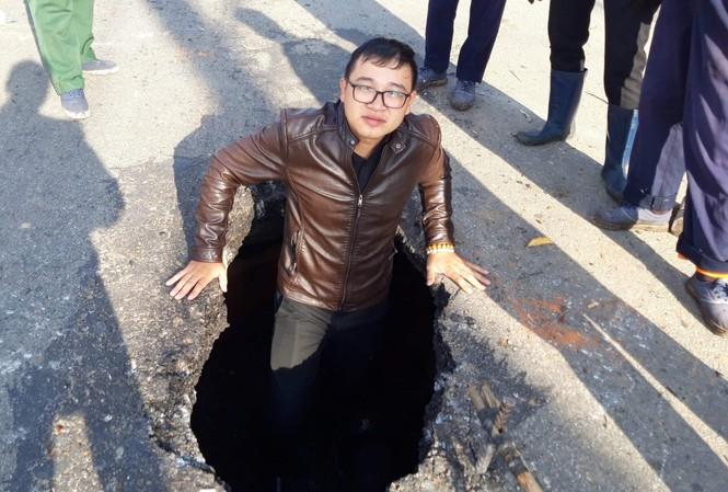 Hố tử thần xuất hiện trên đường Phan Đình Phùng