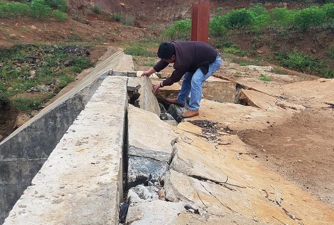 Công trình thủy lợi Nút Riêng bị hỏng nghiêm trọng ở nhiều hạng mục