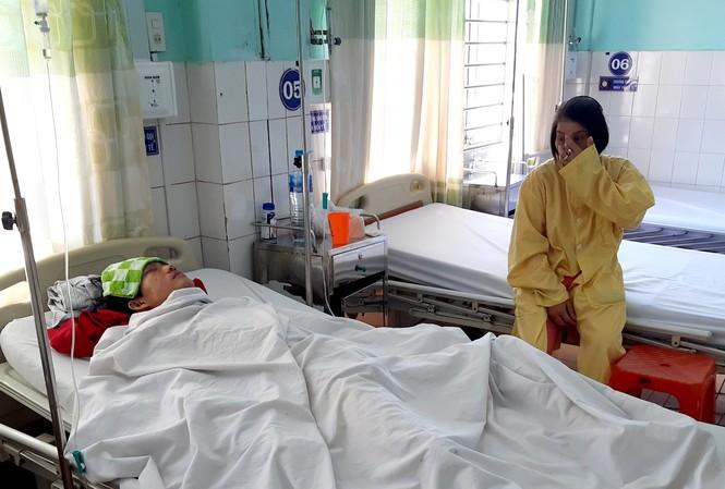 Anh Thanh bị thương nặng được cấp cứu tại bệnh viện Đa khoa tỉnh Gia Lai