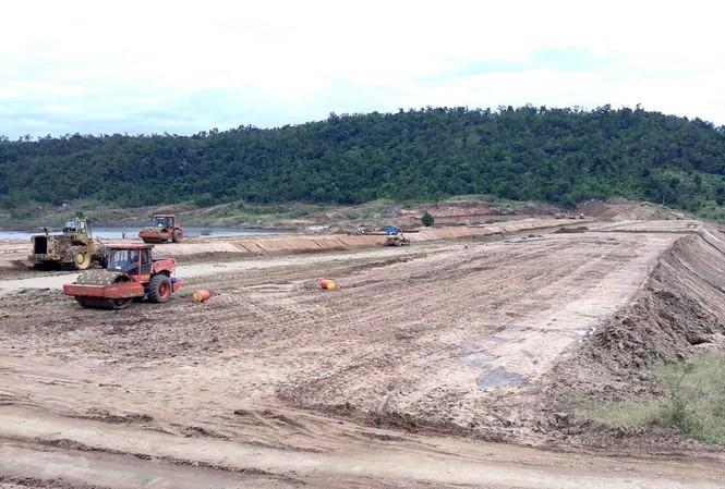 Dự án công trình thuỷ lợi hồ chứa nước Ia Rtô vẫn đang thi công