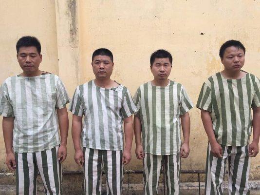 4 trong số các đối tượng bị bắt giữ để xử lý về hành vi đánh bạc