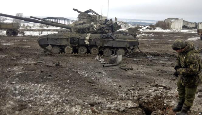 Chiến sự vẫn diễn ra ác liệt ở miền đông Ukraine. Ảnh: Getty Images.