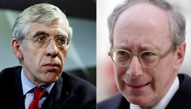 Ông Jack Straw (trái) và ông Malcolm Rifkind là những chính trị gia có tầm ảnh hưởng lớn ở Anh. Ảnh: IBTimes - Getty Images.