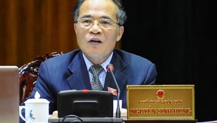 Chủ tịch QH Nguyễn Sinh Hùng