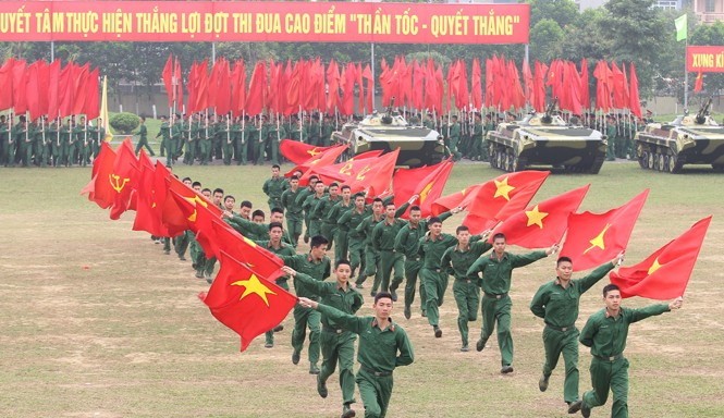 Tuổi trẻ Quân đội đặt nhiều kỳ vọng vào Đại hội lần thứ XII của Đảng. Ảnh: Nguyễn Minh.