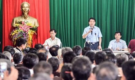 Cuối tuần qua, Chủ tịch UBND TP Hà Nội Nguyễn Đức Chung đã có buổi đối thoại với nhân dân xã Nam Sơn, huyện Sóc Sơn.
