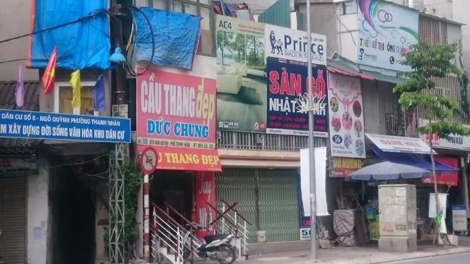 Nhiều công trình siêu mỏng, siêu méo xuất hiện trên phố Thanh Nhàn.