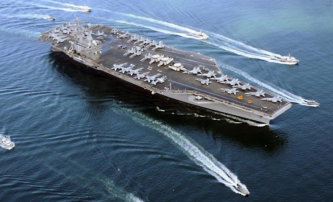 Tàu sân bay USS Ronald Reagan của Mỹ hiện diện thường xuyên ở Tây Thái Bình Dương. Ảnh: US Navy.