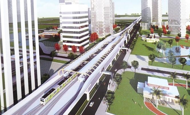 Ngoài hai tuyến đang thi công, Quy hoạch GTVT Hà Nội còn có 7 tuyến ĐSĐT khác sẽ được xây dựng. Ảnh: Trọng Đảng.