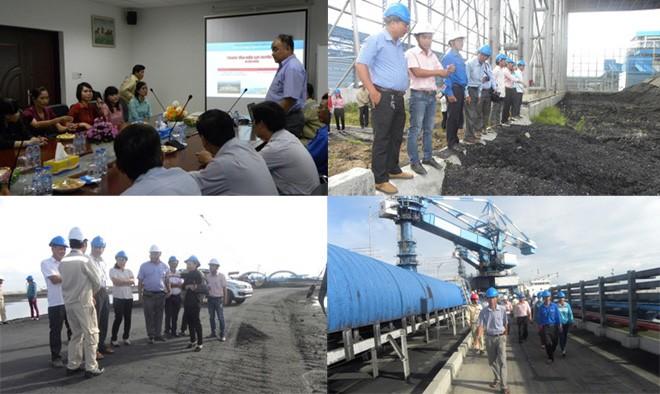 Duyên Hải 1 mời đại diện nhân dân địa phương vào kiểm tra môi trường nhà máy.