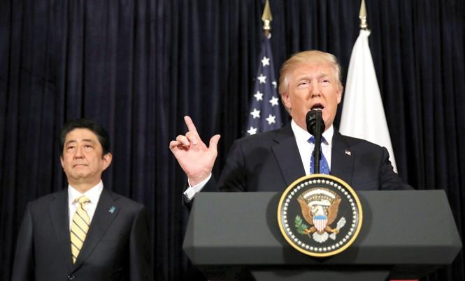 Tổng thống Mỹ Donald Trump và Thủ tướng Nhật Bản Shinzo Abe. Ảnh: Getty Images.