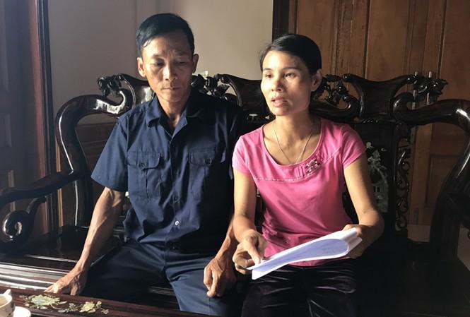 Vợ chồng cô Đỗ Thị Hồng Huế.