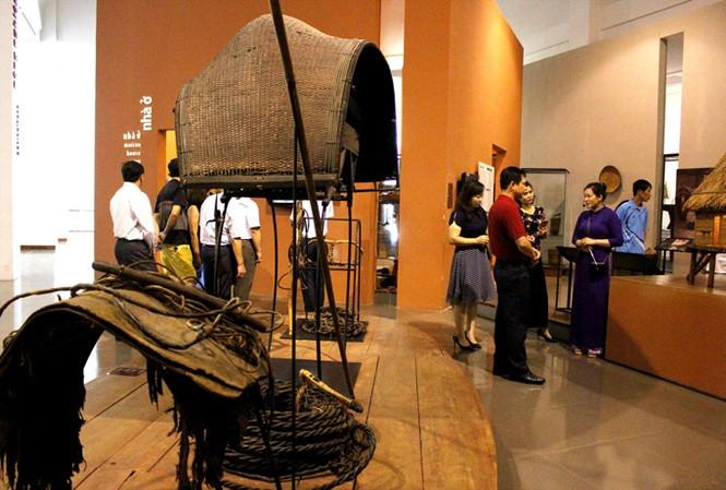 Không gian trưng bày hiện vật ở Bảo tàng.