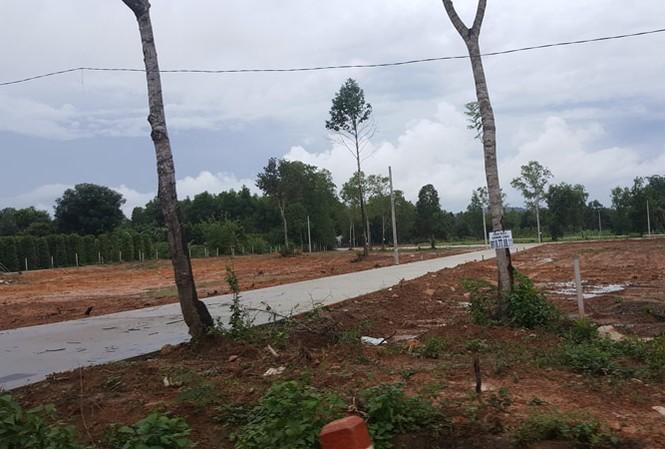 Một dự án phân lô bán nền trên đất nông nghiệp tại xã Cửa Cạn, Phú Quốc (Kiên Giang). Ảnh: P.V.