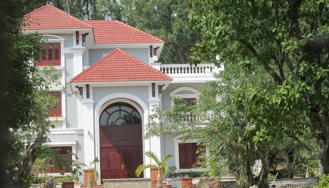 Ngôi biệt thự trái phép của gia đình thiếu tướng Phan Như Thạch. Ảnh: PV