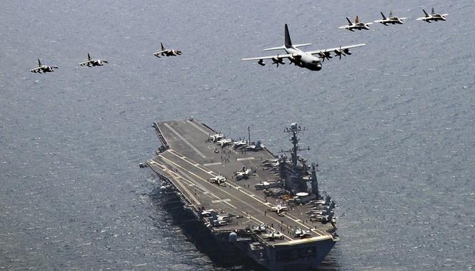 Tàu sân bay Mỹ USS George Washington từng tập trận tại biển Đông. Ảnh: US Navy